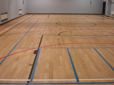Hardwood Oak Flooring Sports Hall