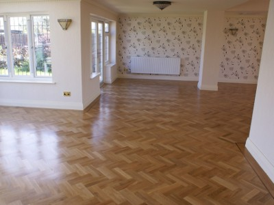 Herringbone Pattern Hardwood Oak Flooring